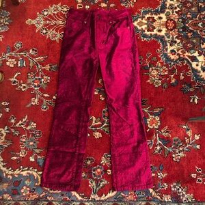 Free people velvet flared pants